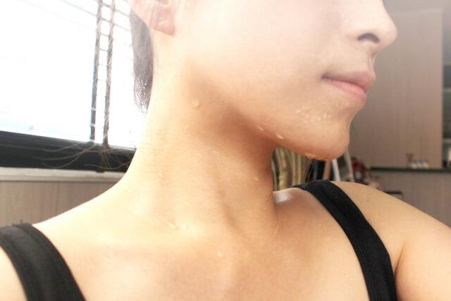 デメリット②:人によっては、汗の量がすごいことも